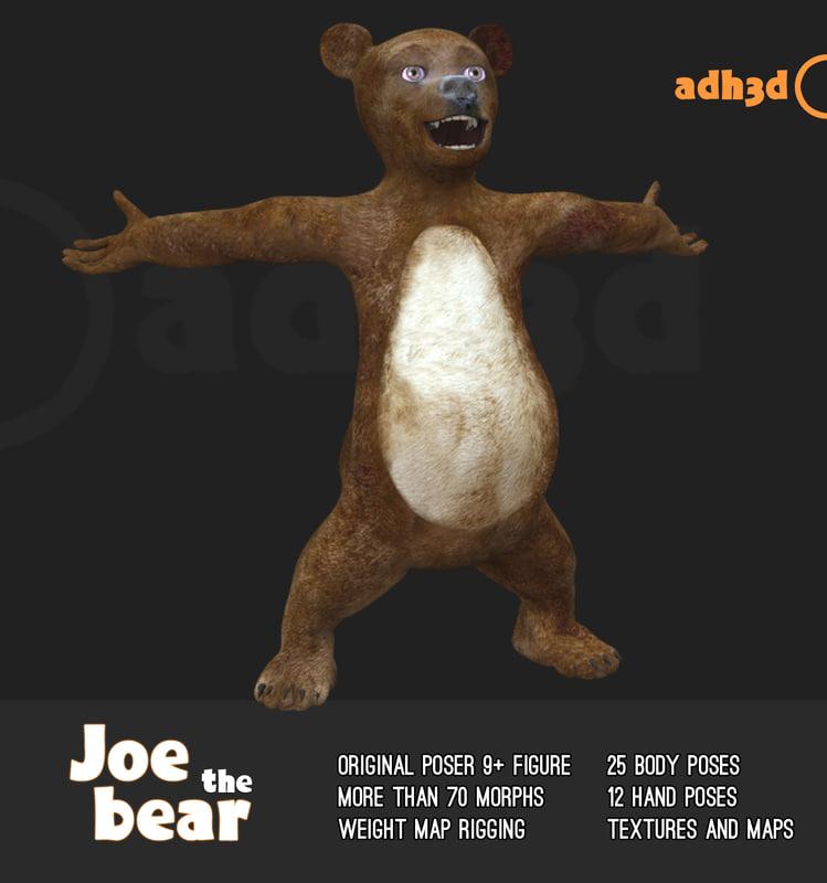 poser bear 3D model