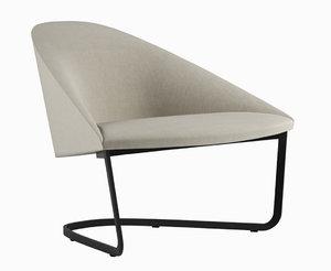 arper colina armchair 3D model