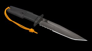 3D rambo knife