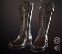 3D leather boot