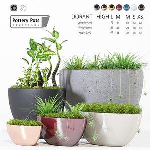 3D pottery pots model