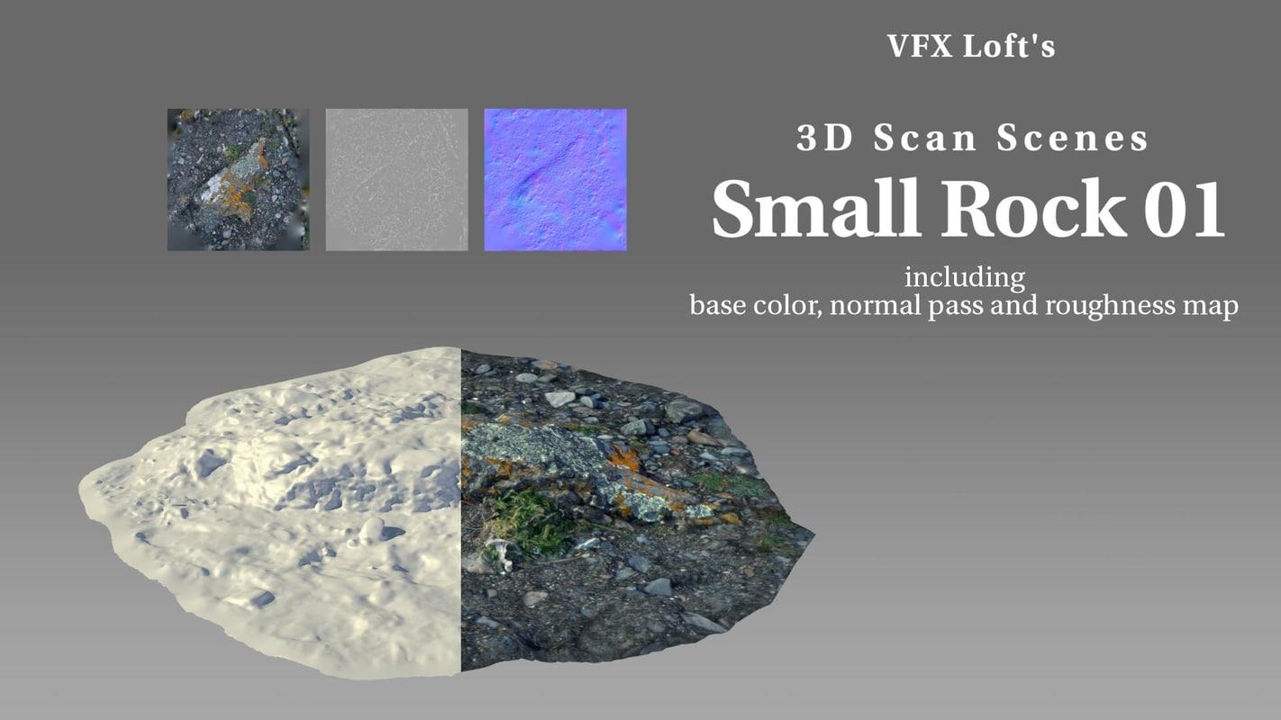 3D scan small rock vfxl0003