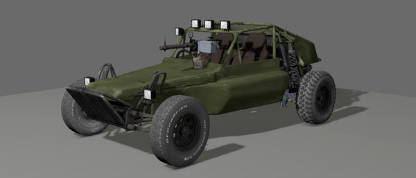 3D model rigged dune buggy