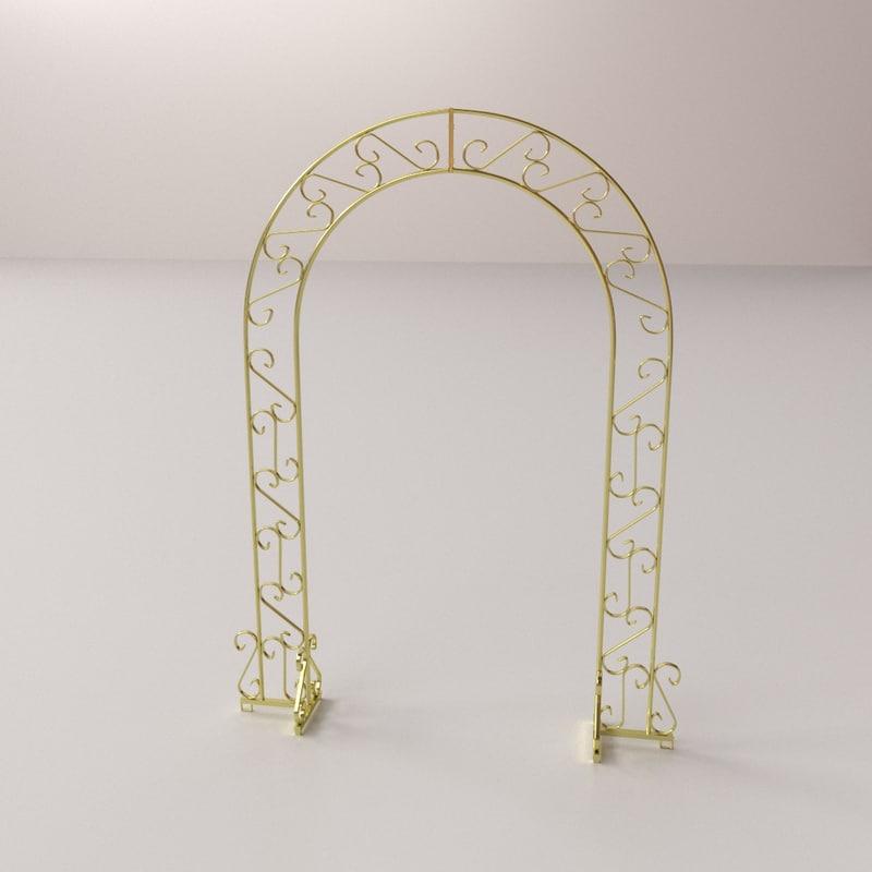 wedding arch 3D model