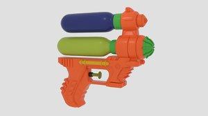3D model 6-inch water guns