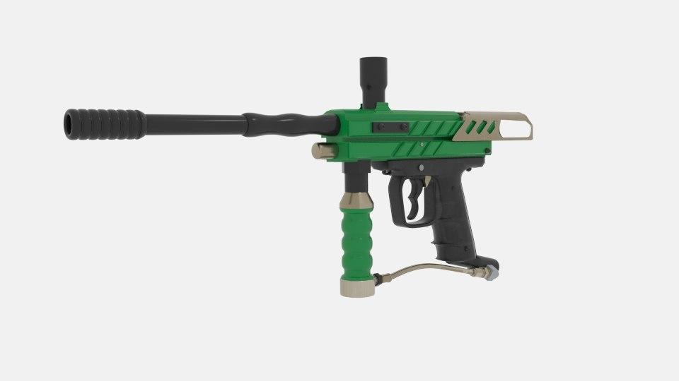 3D paintball guns model