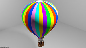 air balloon hot 3D model