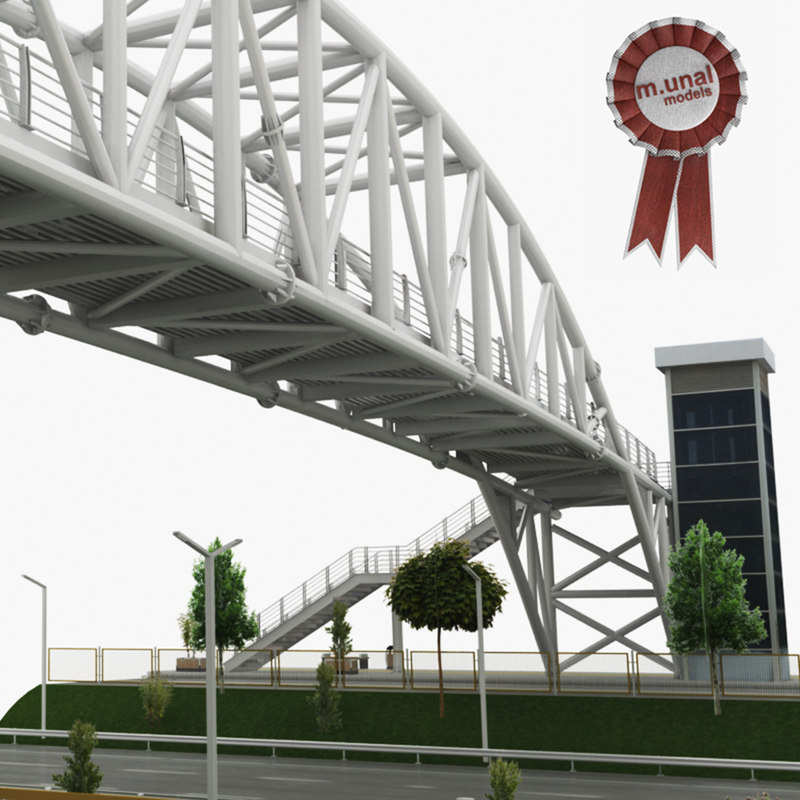 3D pedestrian bridge