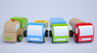 Toy Street Vehicles, Wooden toys