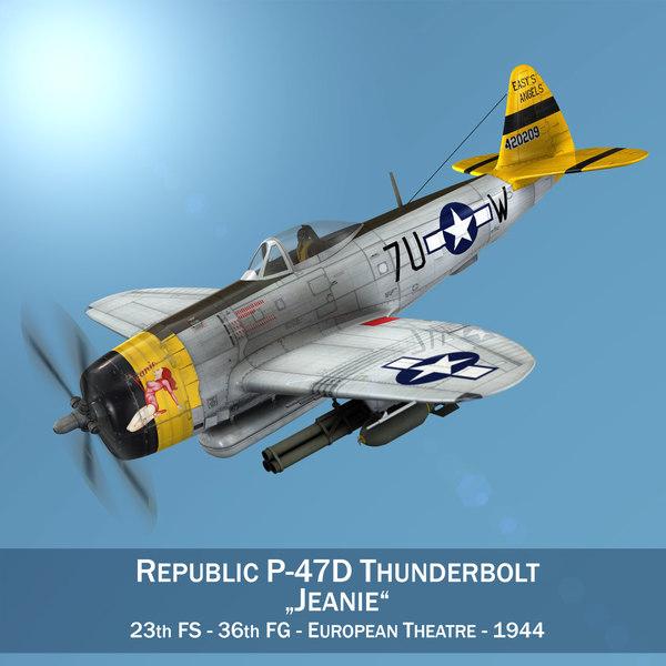 republic p-47d thunderbolt - 3D