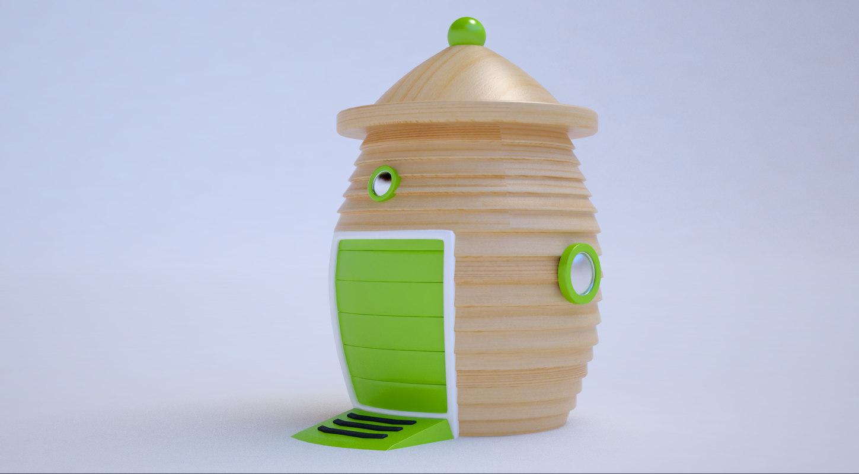 3D model street toy parking wooden