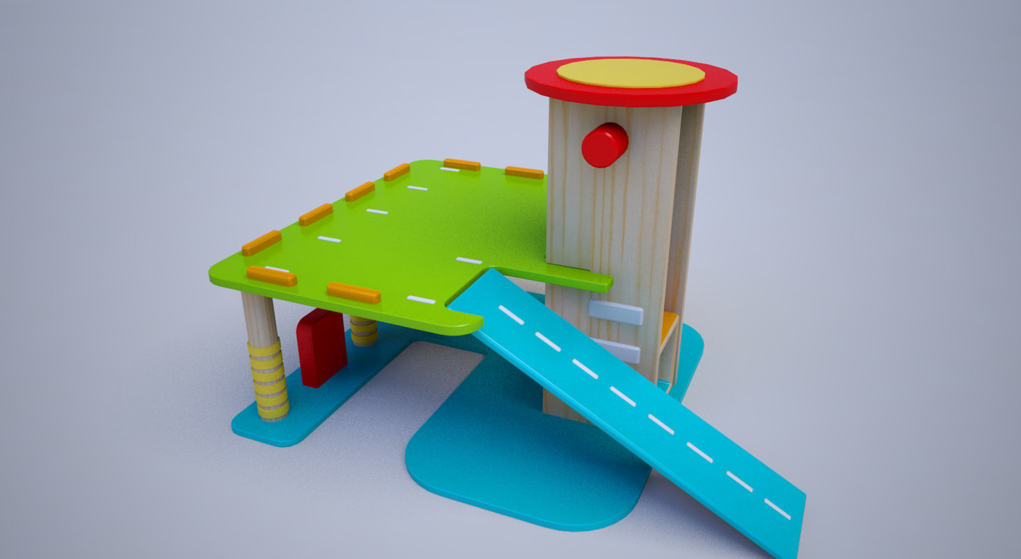 3D street toy wooden