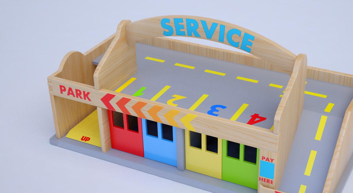 street toy wooden model