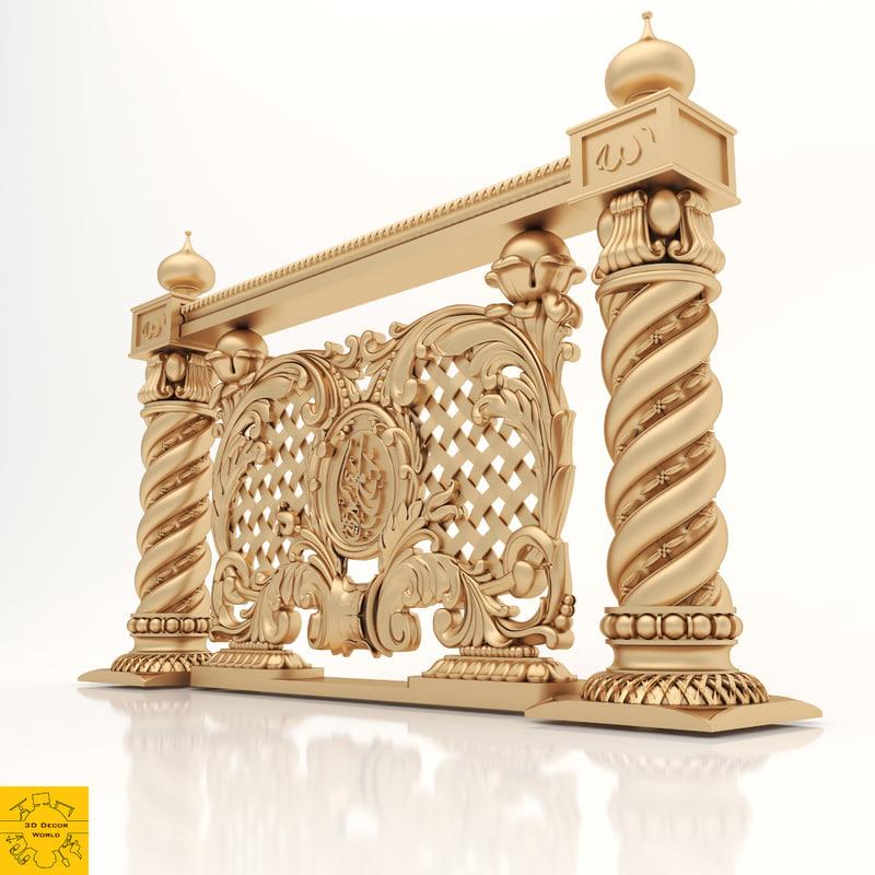 ornament cnc element 3D model