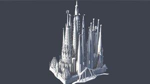 sagrada familia 3D model