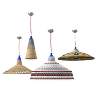 3D wicker chandelier set