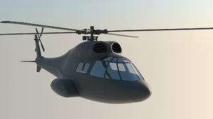 3D model prototype hlicoptre chopper