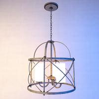 drum chandelier lights 3D model