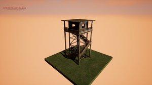 watchtower hunter 3D model