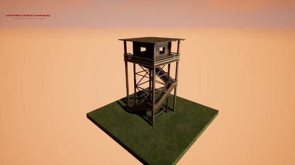 watchtower hunter 3D model
