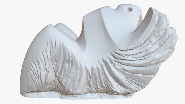 3D abstract sculpture 1m raw