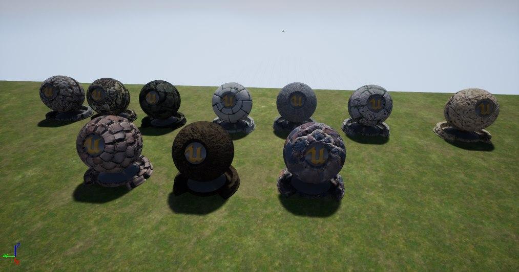 3D materials unreal engine model
