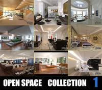 open spaces 3D model