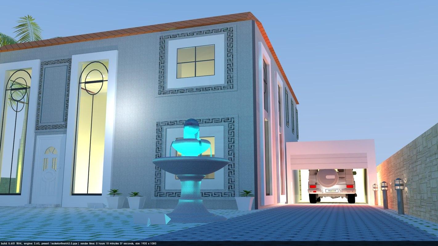luxurious californian home 3D model