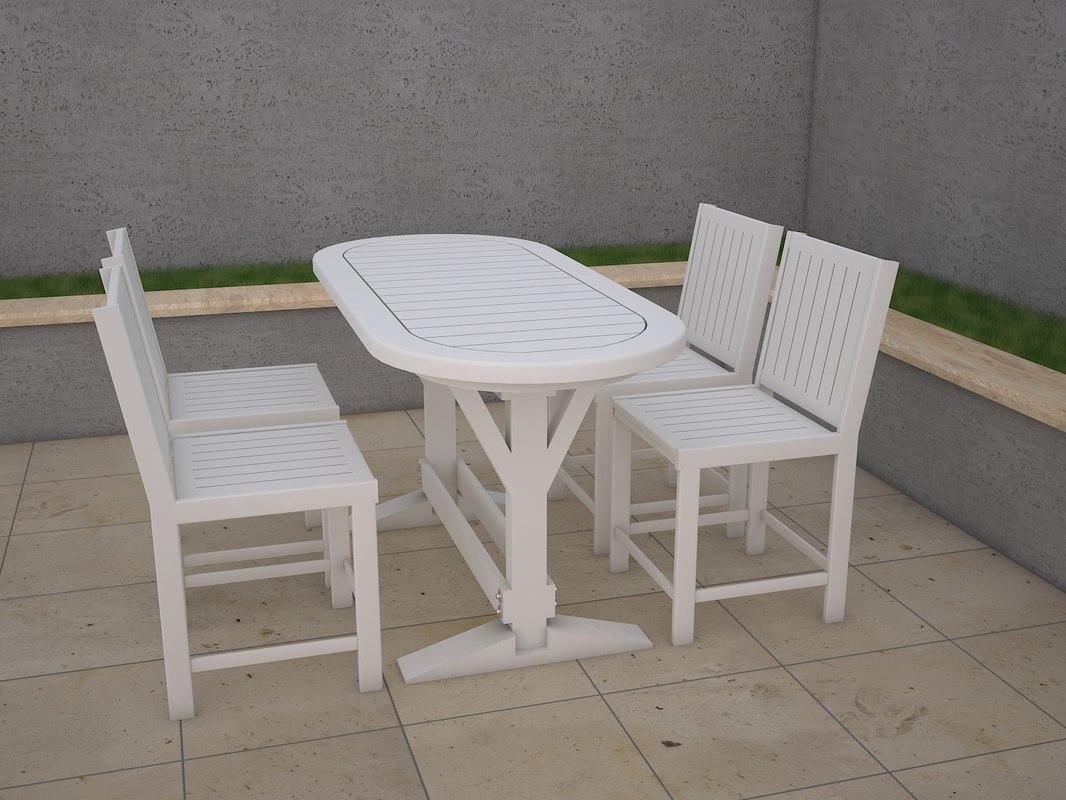 table garden 3D model