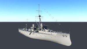 3D hms dreadnought model