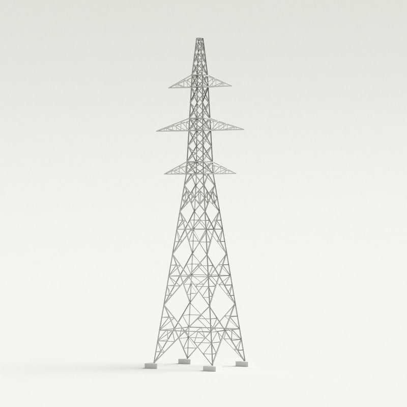 3D model electric tower