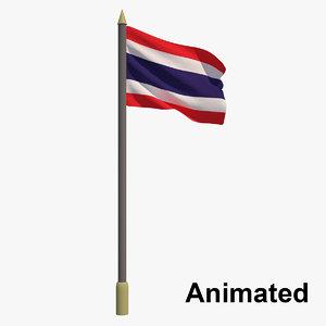 flag thailand - animation 3D model