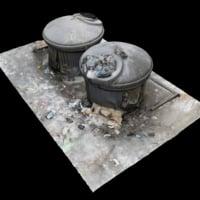 3D scan dumpster tank model