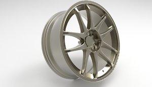 sports car wheel rim model