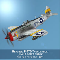 3D model republic p-47d thunderbolt -