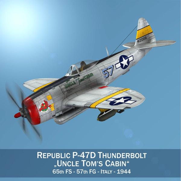 3D model republic p-47d thunderbolt -