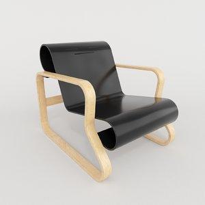 artek paimio armchair 41 3D
