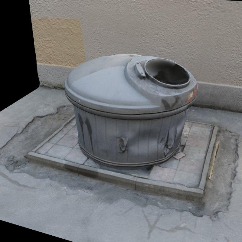 scan dumpster tank 2 3D model