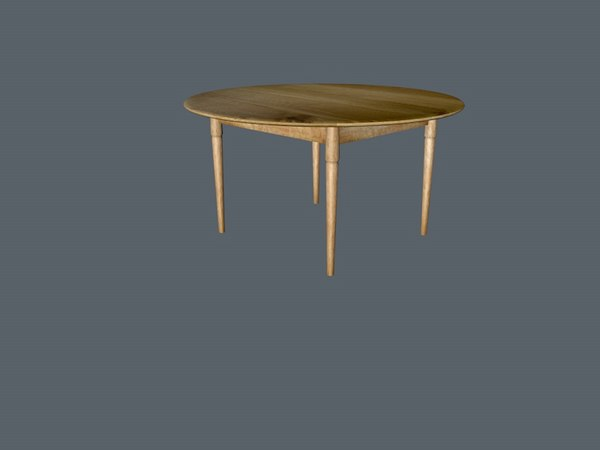3D simple table model