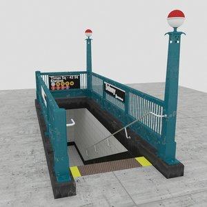 subway entrance new 3D model
