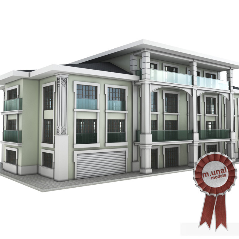 mansion building residential 3D