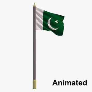 3D flag pakistan - animation