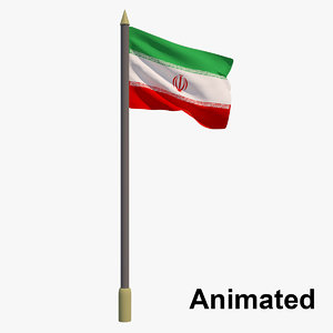 flag iran - animation model