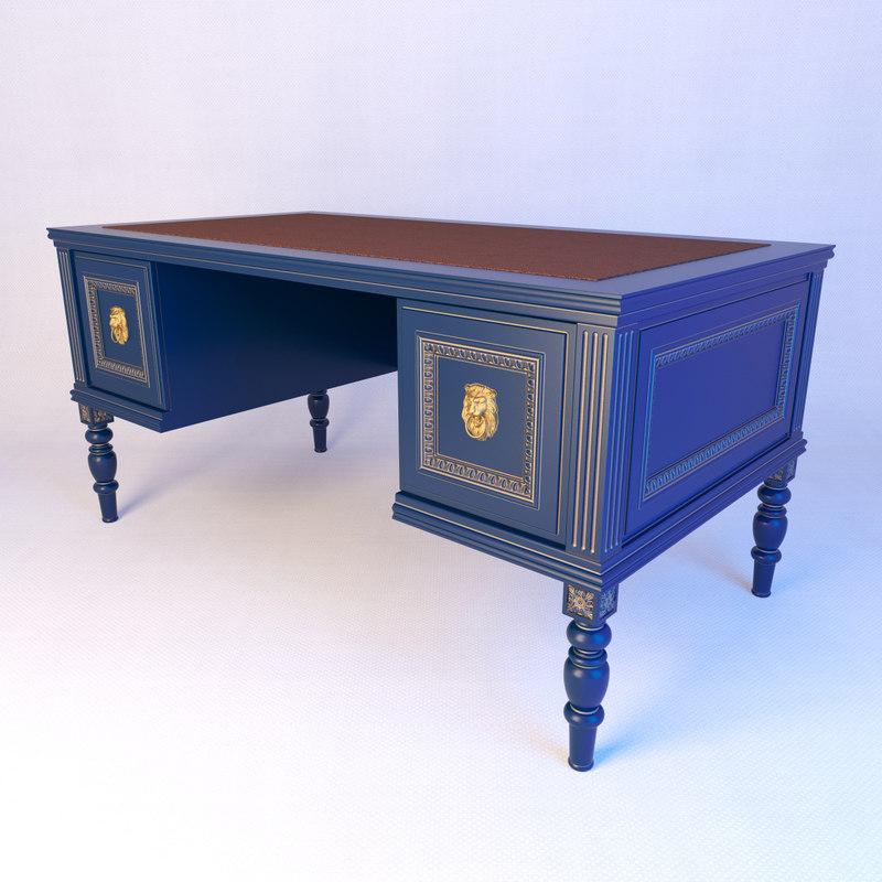 classical writing desk 3D