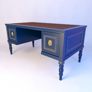 classical writing desk 3D