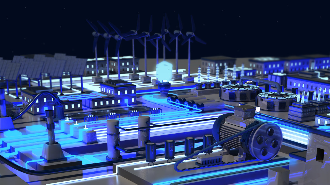 electrically engineering 3D model