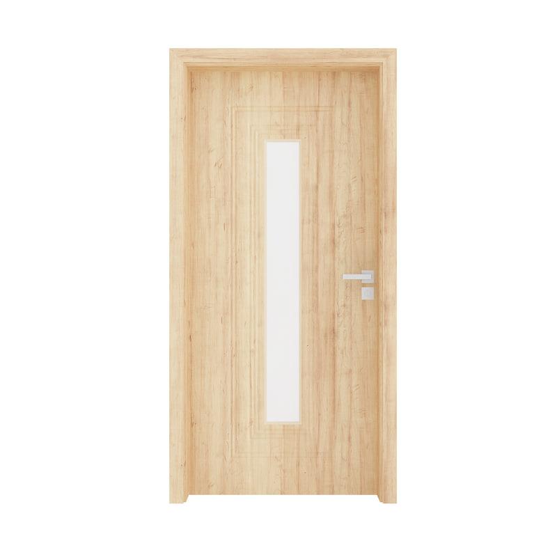 3D wooden interior door model