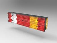 3D truck rear light reflector