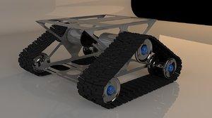 3D tank transporter model