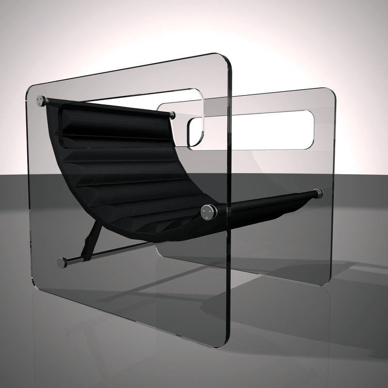 naked glass lounge chairs 3D model